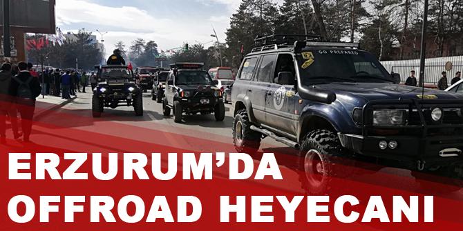 Erzurum'da offroad heyecanı