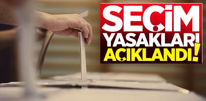 İşte 31 Mart Pazar günü yapılacak yerel seçimlere dair tüm detaylar ve yasaklar...