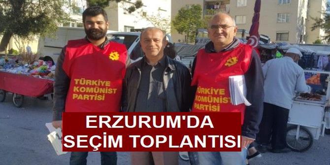 TKP Erzurum'da seçim çalışmasına hız verdi