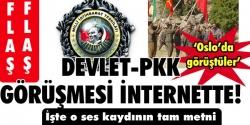 Devlet- PKK görüşmesi internette