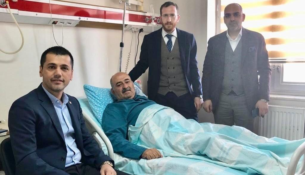 Üneş'ten Gazeteci Cem Bakırcı'ya geçmiş olsun ziyareti...