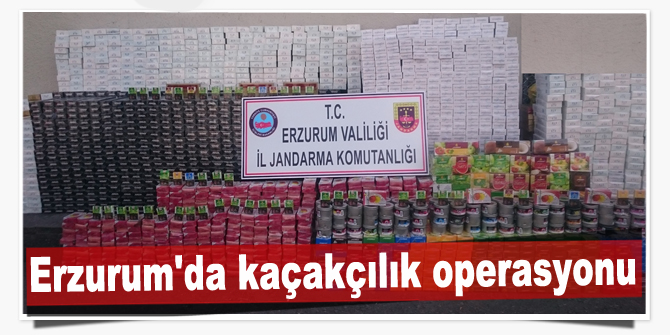 Erzurum'da kaçakçılık operasyonları