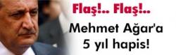 Mehmet Ağar'a 5 yıl hapis!