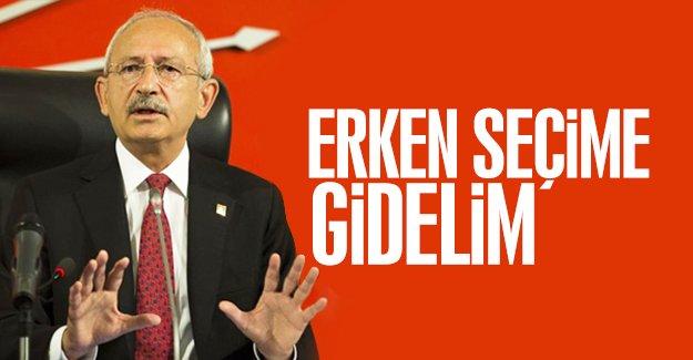 CHP lideri Kemal Kılıçdaroğlu'undan 'erken seçim' yorumu