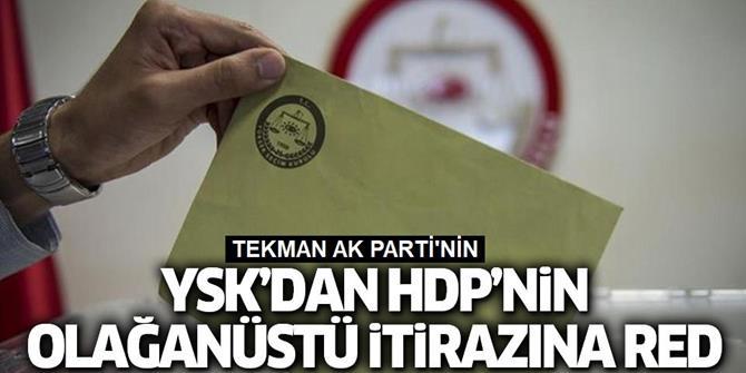 HDP'nin itirazına YSK'dan ret