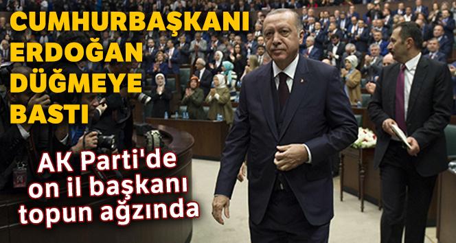 AK Parti'de on il başkanı topun ağzında