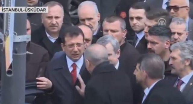 Erdoğan ve İBB Başkanı Ekrem İmamoğlu cenaze törenine katıldı!