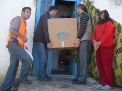 Erzurum'da mültecilere yardım