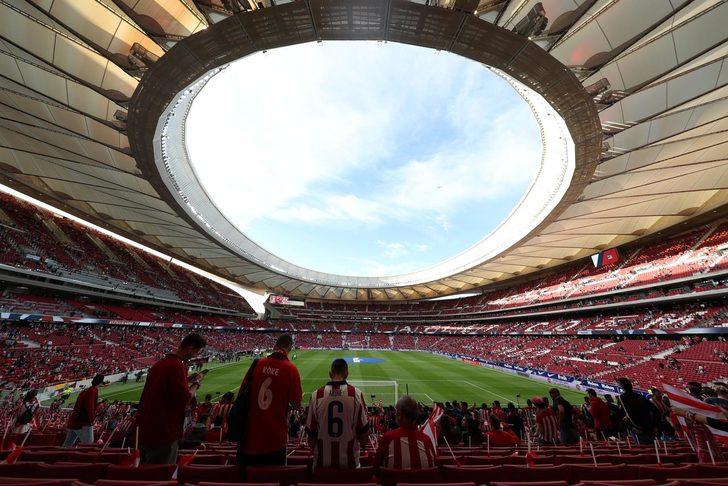 Atletico Madrid'in Stadı Wanda Metropolitano'da porno film çektiler