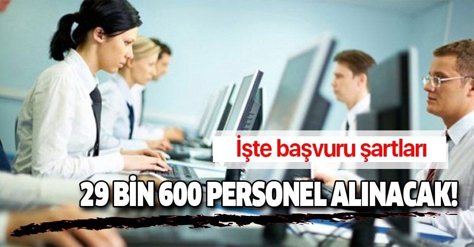 Sağlık Bakanlığı 29 bin 600 kamu personeli alımı başvuru şartları .