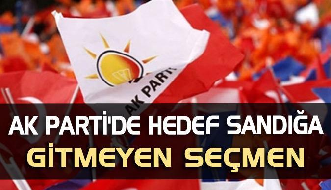 AK Parti'de 23 Haziran'da hedef sandığa gitmeyen seçmen