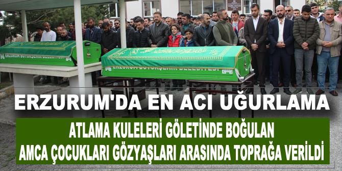 Erzurum'da en acı uğurlama