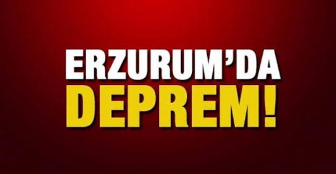 Erzurum'da deprem oldu!