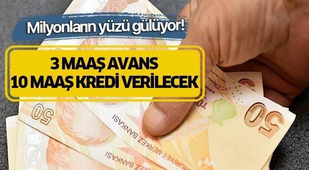 SGK SSK ve Bağkur'luya 3 maaş avans .