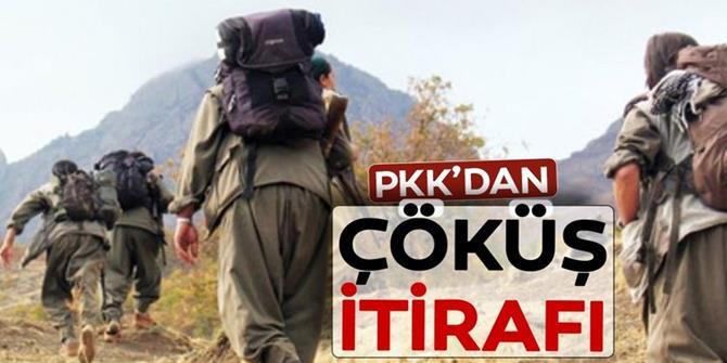 PKK'dan çöküş itirafı