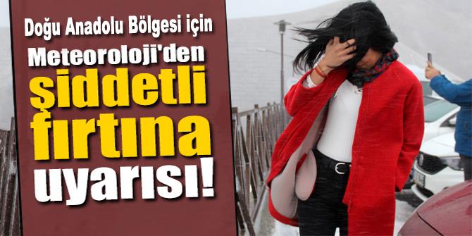 DİKKAT! Bugün Erzurum ve çevresi için fırtına uyarısı