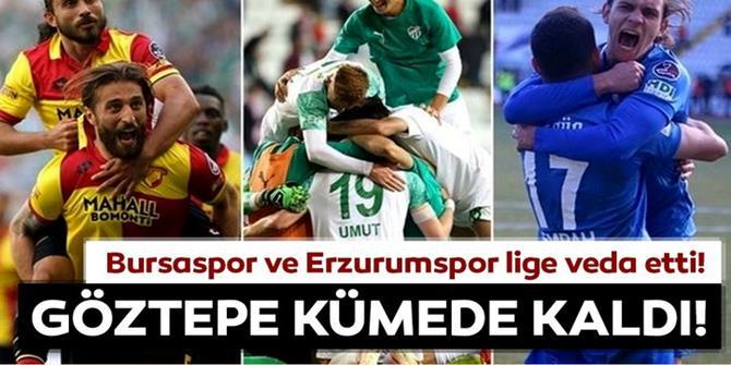 Bursaspor ve Erzurumspor küme düştü!