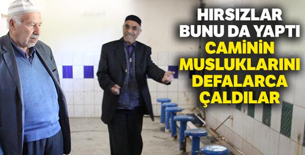 Erzurum'da Caminin musluklarını defalarca çaldılar