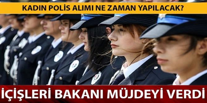Bakan Soylu: 3 bin kadın polis alacağız