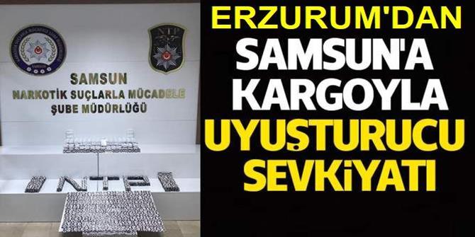 Erzurum'dan Samsun'a uyuşturucu sevkiyatı