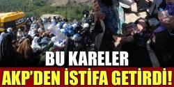AKP'den istifa ettiren protesto!...