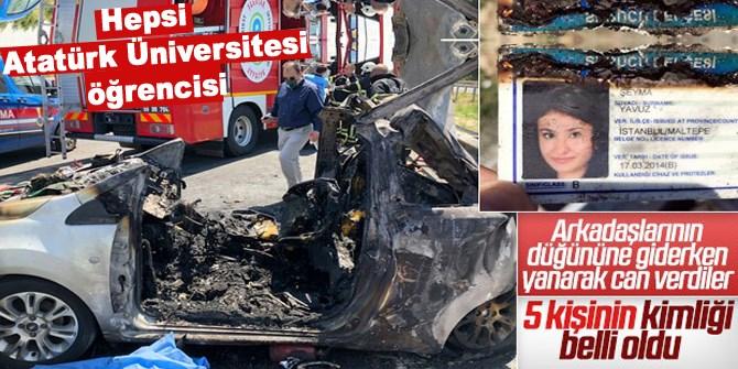 Feci kazada ölenler Atatürk Üniversitesi öğrencisi