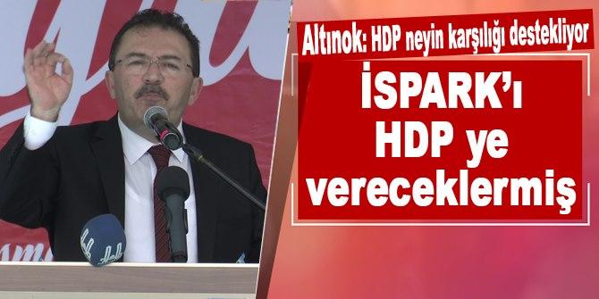 Altınok: 'HDP neyin karşılığı destekliyor, İSPARK'ı HDP ye vereceklermiş'