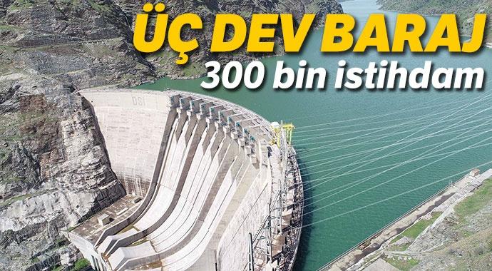 Büyük barajlardan 300 bin istiham