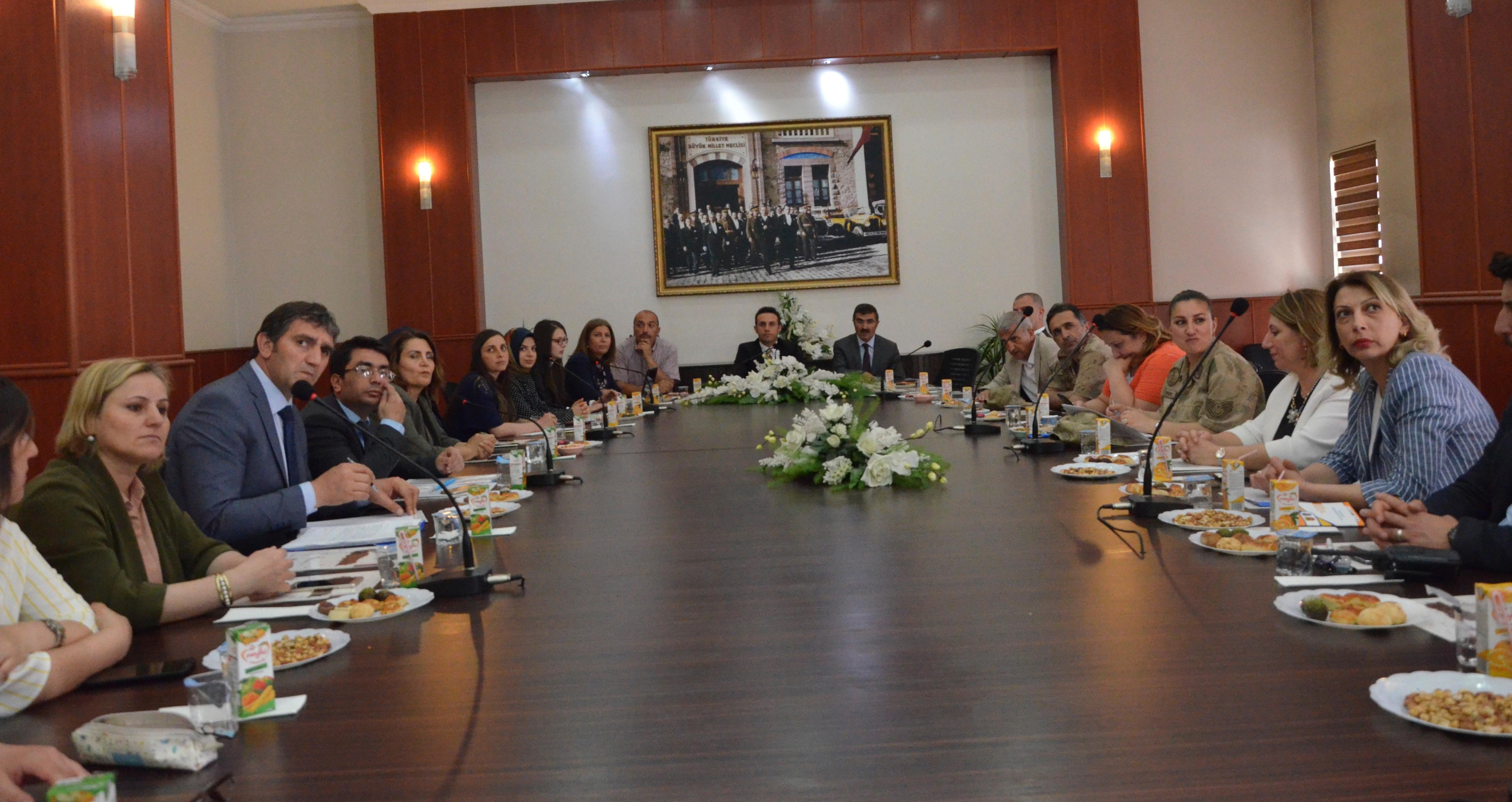 Erzurum'da Kadına Yönelik Şiddetle Mücadele toplantısı
