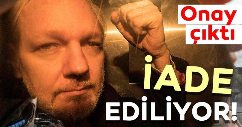 Wikilieaks kurucusu Assange'nin ABD'ye iadesine onay çıktı!