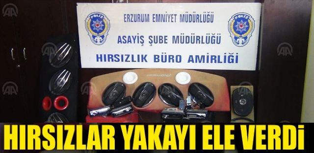 Erzurum'da Hırsızları kamera görüntüleri ele verdi