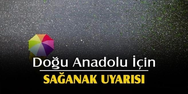 Doğu Anadolu'da 5 il için sağanak uyarısı