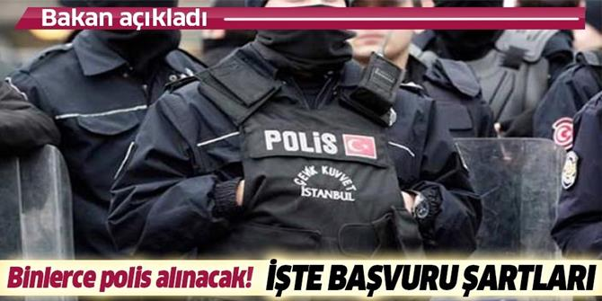 EGM 10 bin polis alımı başvuru şartları