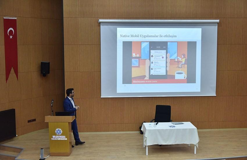 """ETÜ'de """"Blackboard"""" semineri"""