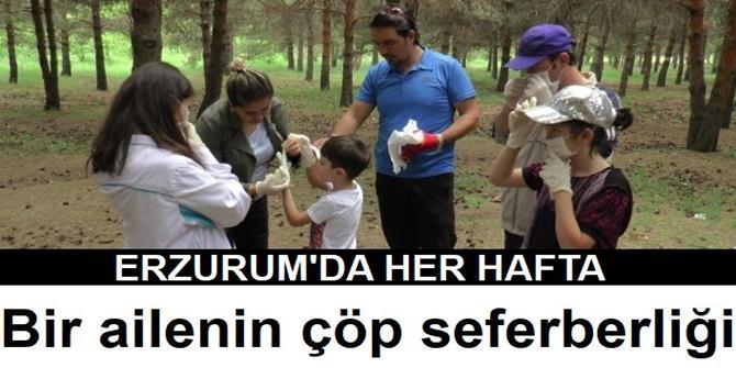 Erzurum'da Bir ailenin çöp seferberliği