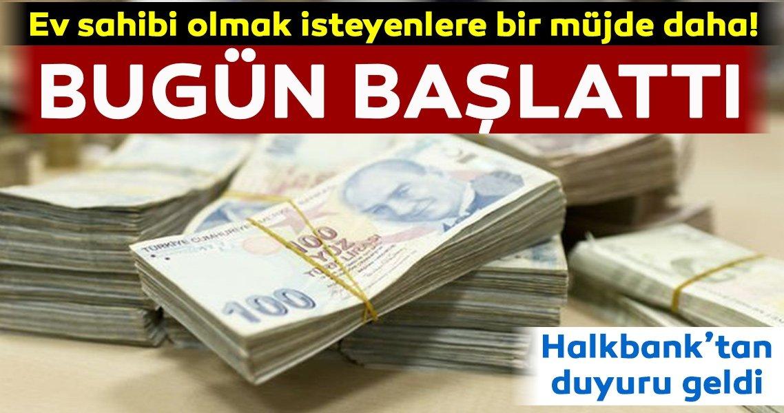 Halkbank'tan ev almak isteyenlere müjde!