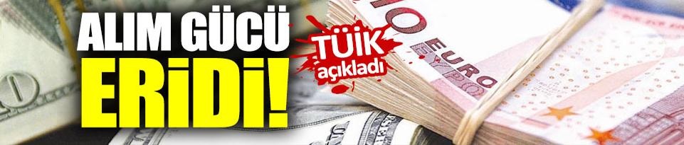 Türkiye'nin alım gücü eridi!