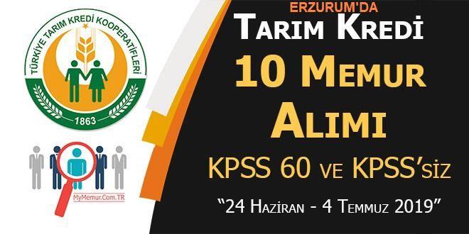 Erzurum'da Tarım Kredi 10 Memur Alımı Yapacak!