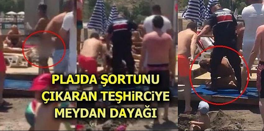 Plajda çıplak adam paniği!