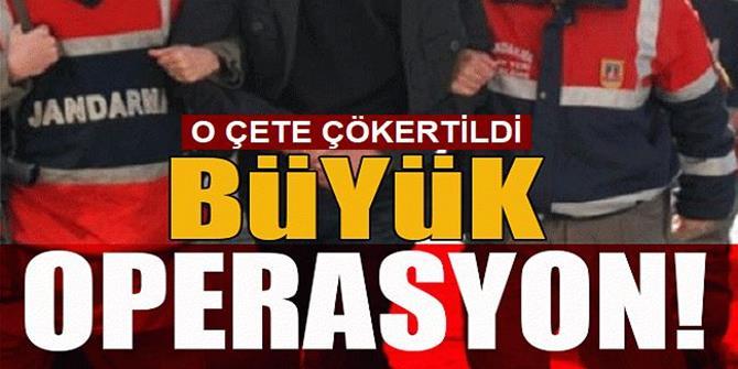 Erzurum ve 16 ilde jandarma düğmeye bastı