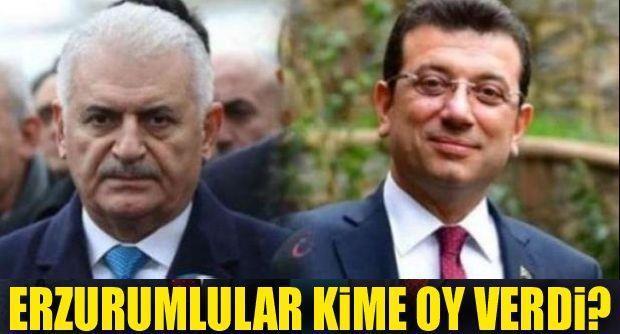 İstanbul'da Erzurumlu kime oy verdi!