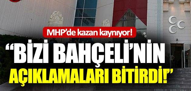 """MHP'li yetkili: """"Bizi Bahçeli'nin açıklaması bitirdi"""""""