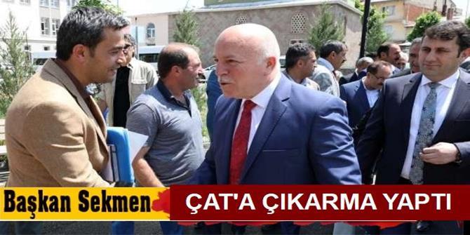 Başkan Sekmen'den Çat çıkarması
