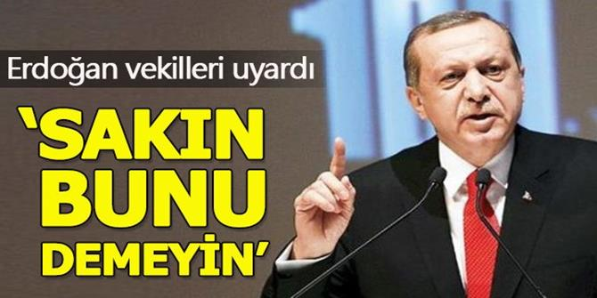 Erdoğan'dan milletvekillerine yeni parti uyarısı
