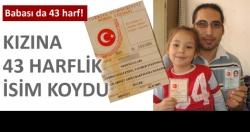 Türkiye'nin en uzun isimli kızı!