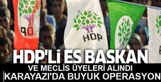 Karayazı Belediyesi'nin eşbaşkanı ve meclis üyeleri gözaltına alındı