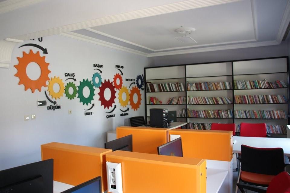 Oltu'ya 5 bin kitaplık kütüphane