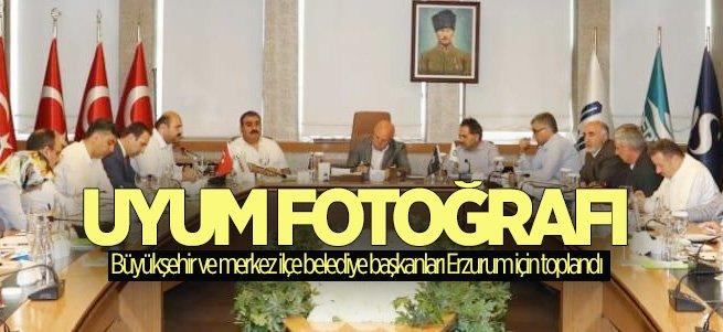 Erzurum'da başkanların Uyum Fotoğrafı!