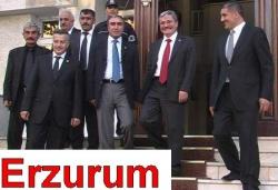 Erzurum'un valisine gittiler!