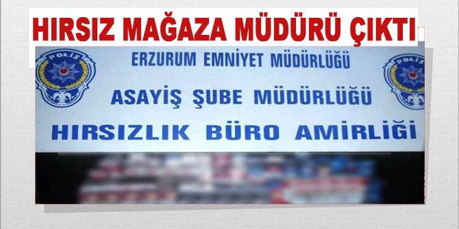 Erzurum'da Müdürü olduğu marketi soydu